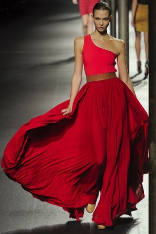 : Lanvin, Karlie Kloss, Fashion Style, Fashion Week, Red Gowns, One Shoulder, Colors Schemes, The Dresses, Carboxylic Block