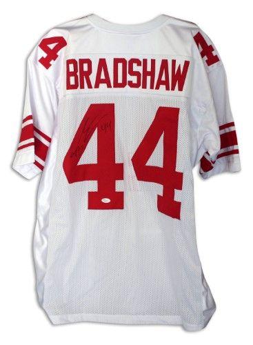 Ahmad Bradshaw New York Giants Autographed White Throwback Jersey ...
