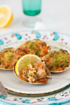 Old-Fashioned Stuffed Baked Clams recipe at Cooking Melangery. Sounds wonderful- great flavours-s-