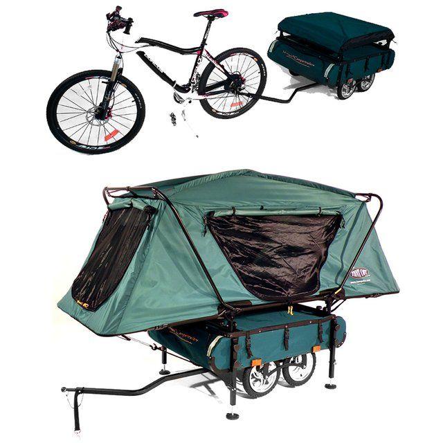 Bicicleta - tienda de campaña. Ideal para el camino de Santiago :-D