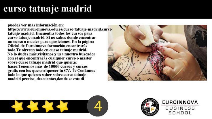 curso tatuaje madrid - puedes ver mas información en: https://www.euroinnova.edu.es/curso-tatuaje-madrid.    curso tatuaje madrid. Encuentra todos los cursos para curso tatuaje madrid. Si no sabes donde encontrar un curso o master para oposiciones. En la página Oficial de Euroinnova formación encontrarás todo.    Te ofrecen todo en curso tatuaje madrid. No lo dudes másvisítanos y usa nuestro buscador con el que encontrarás cualquier curso o master sobre curso tatuaje madrid que quieras…