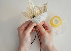 Guirlande lumineuse en fleurs de papier, Déco Noël à fabriquer