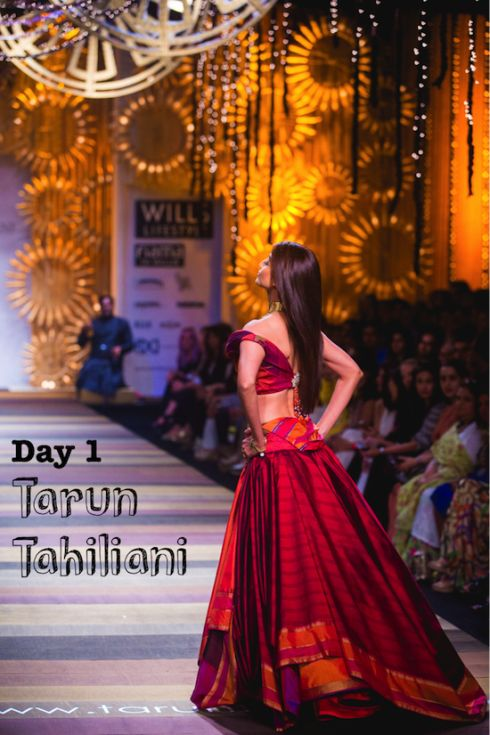 See all the outfits from Tarun Tahiliani at Wills India Fashion Week A/W 2014 in this post  #wifw