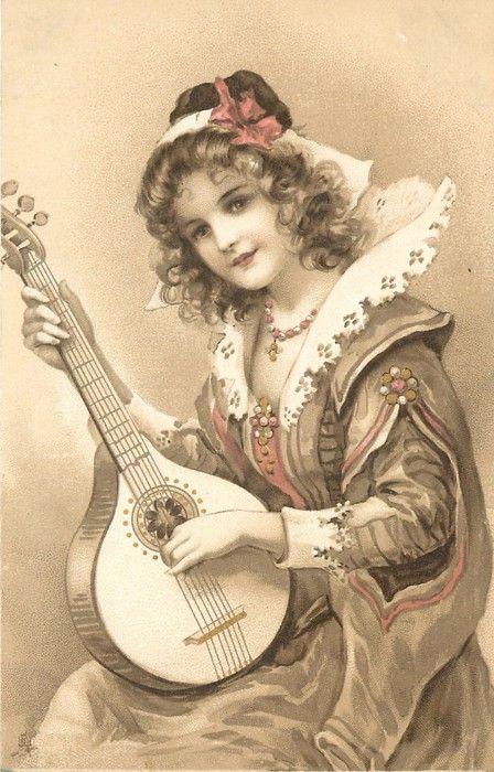 Vintage lady .@@@@......http://www.pinterest.com/caroleminiature/histoire-de-femmes/