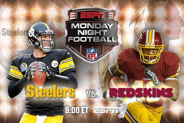 Are you ready for some football?....Hey, even though it's still the NFL preseason, we get some Monday Night Football tonight...and that's a good thing...The Pittsburgh Steelers vs Washington Redskins from Wash.DC....7pm CT... RGIII won't be playing tonight but here's a preview of the players who will be .... http://bleacherreport.com/articles/1742667-steelers-vs-redskins-full-breakdown-analysis-for-monday-night-football
