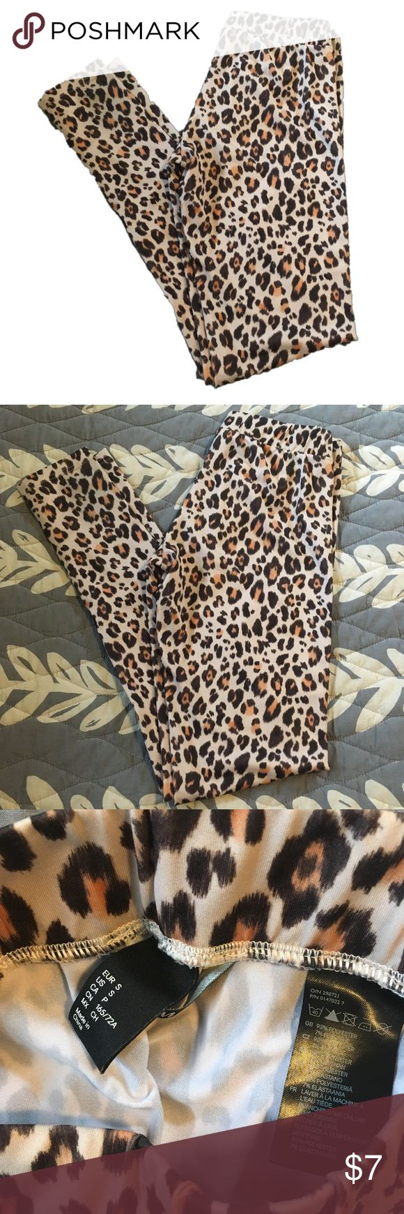 H&M leopard leggings H&M leopard leggings. Preloved but great condition. H&M Other