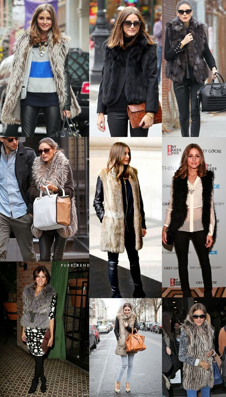 Wrapped Up in Fur Gilet... Olivia Palermo Style #mystyle #fashion is there anything more perfect than a gilet? Or Olivia?!