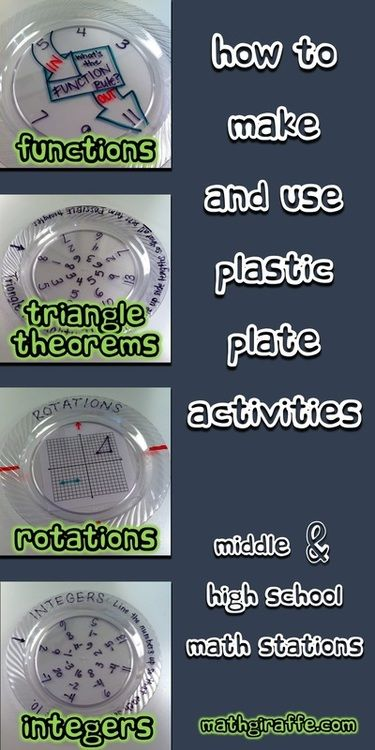 Plastic Plate Activities for Math Class | Math Giraffe - The Math Classroom: Blog | Bloglovin'