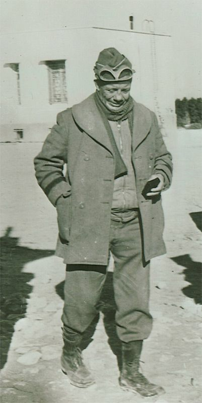 """Brigadier General Theodore Roosevelt, Jr., assistant commander of the 1st Infantry Division, seen here at the Tunisian front. An accomplished author, diplomat, businessman, and soldier, he was erudite and valorous; but in tattered fatigues and wool cap, he could be mistaken for a battalion cook."" -Rick Atkinson, ""An Army at Dawn"""