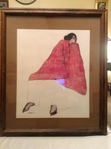 Rc Gorman Signed Print The Red Blanket Ebay R C Gorman