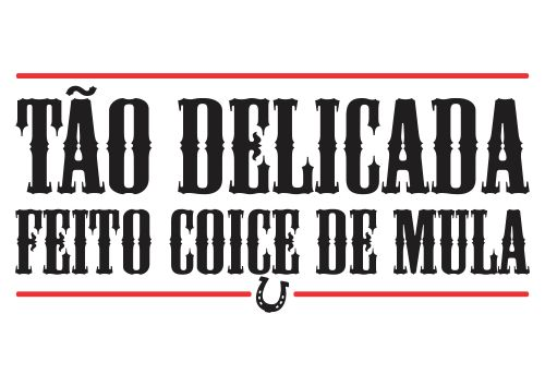 T-Shirt Feminina - T�o Delicada Feito Coice de Mula - Foto