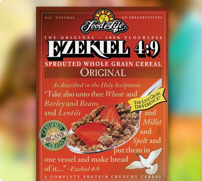 Ezekiel 4:9 Sprouted Whole Grain Cereal. On sale this week! Hit up two Dierbergs today to stock pile! Score :-)