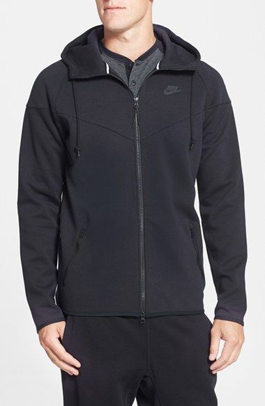 Nike Water Repellent Tech Fleece Windrunner Jacket available at #Nordstrom