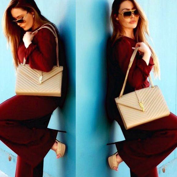 Sold! Authentic YSL Saint Laurent Monogram handbag | Saint Laurent ...