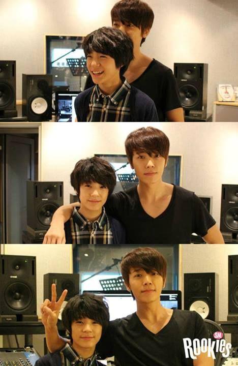 Donghae with Jeno.. hahahah Donghae berasa tinggi deh jadinya..