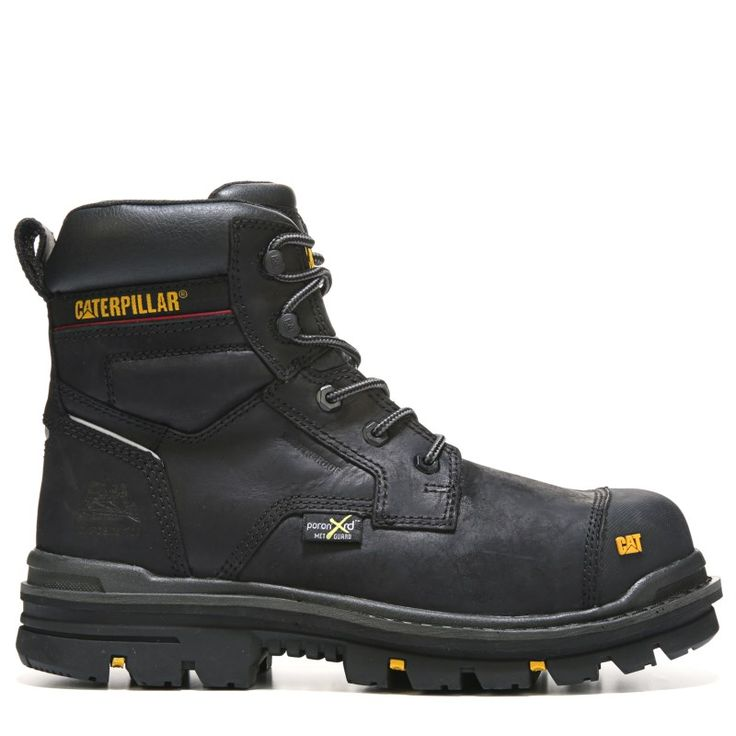 "Caterpillar Men's Rasp 6"" Waterproof Metatarsal Guard Composite Toe Work Boots (Black Leather) -"
