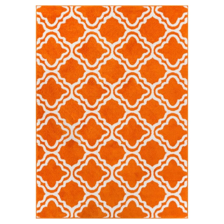 Well Woven Star Bright Calipso Kids Area Rug Orange / White - 09495