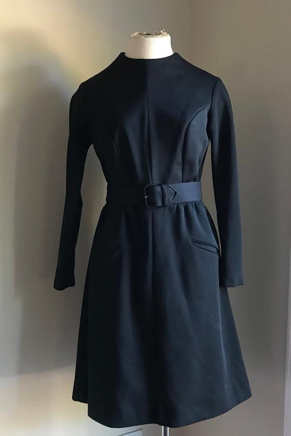 255c57054845 TONI TODD 1970's Little Black Dress, Secretary dress, evening wear , long  sleeves dress #1970 #Clothing #LongSleeveDress #SecretaryDress #ALine  #ToniTodd ...