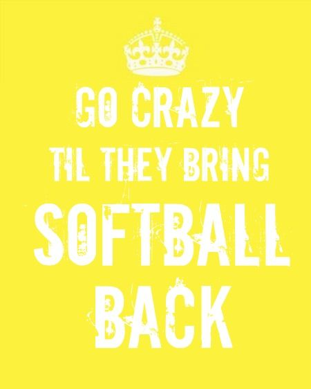 BRING SOFTBALL BACK TO THE OLYMPICS!!!!