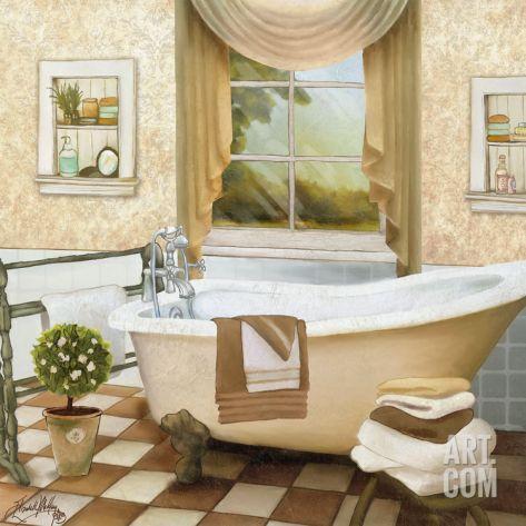 French Bath II Print by Elizabeth Medley at eu.art.com