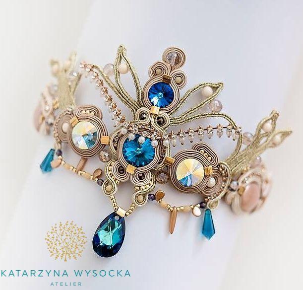 soutache tiara Atelier Magia by Katarzyna Wysocka