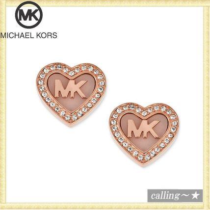 セレブ愛用者多数☆Michael Kors☆ Logo Heart Stud Earrings
