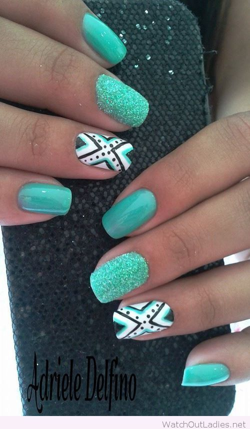 Wonderful turquoise nails design perfect for summer - The 25+ Best Turquoise Nail Art Ideas On Pinterest Turquoise