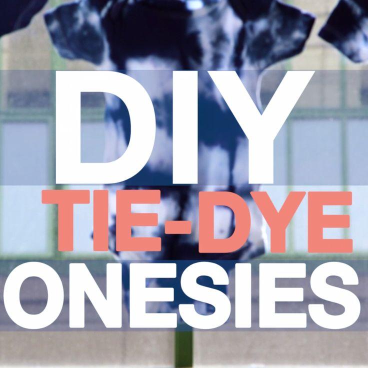 DIY Tie-Dye Baby Onesies