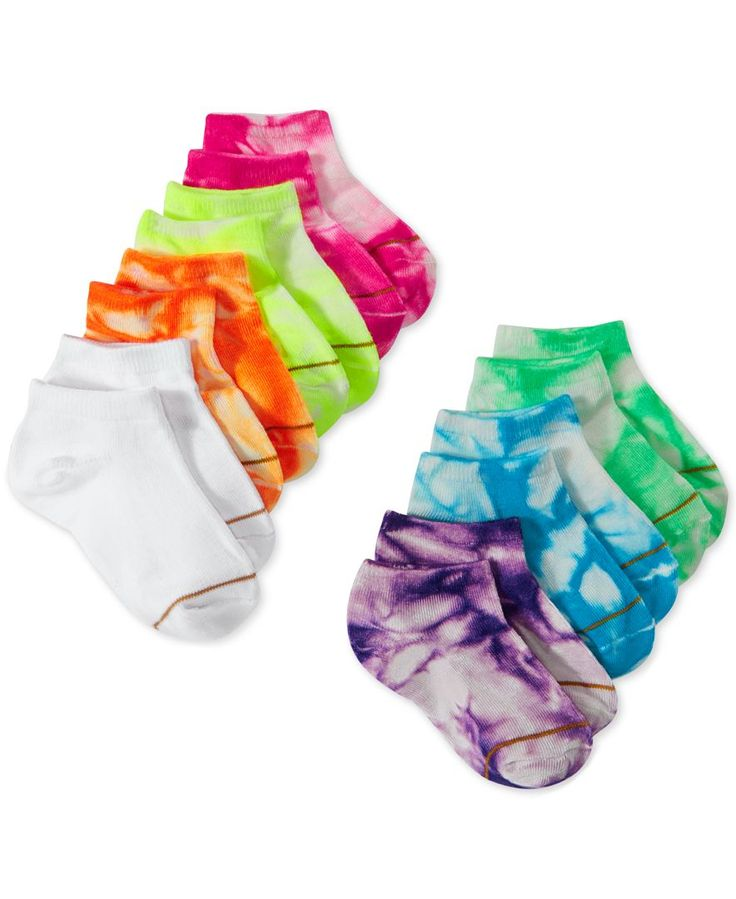 Gold Toe Girls' or Little Girls' Tie-Dye Socks