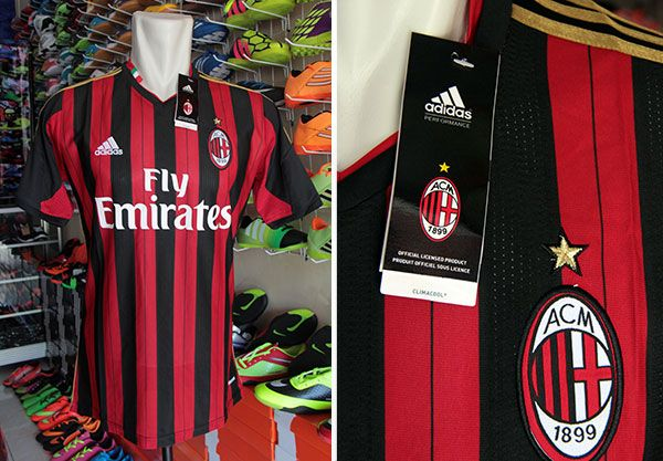 Jersey AC Milan Home Grade Ori Rp 90.000