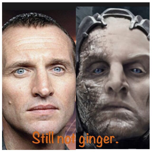 Christopher Eccleston. the ninth doctor and the king of the dark elves in Thor the dark world