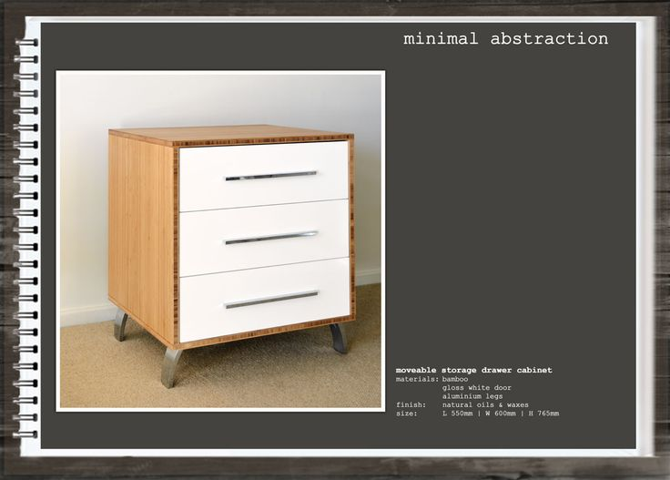 Minimal Abstraction: Moveable Storage Drawer Cabinet