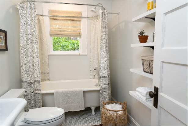 From Changing The Paint Color To Knocking Down Walls See How Your Favorite Hgtv Hosts Take In 2020 Small Bathroom Small Space Bathroom Remodel Small Bathroom Makeover