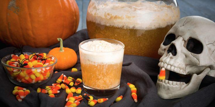 ponche de frutas para Halloween
