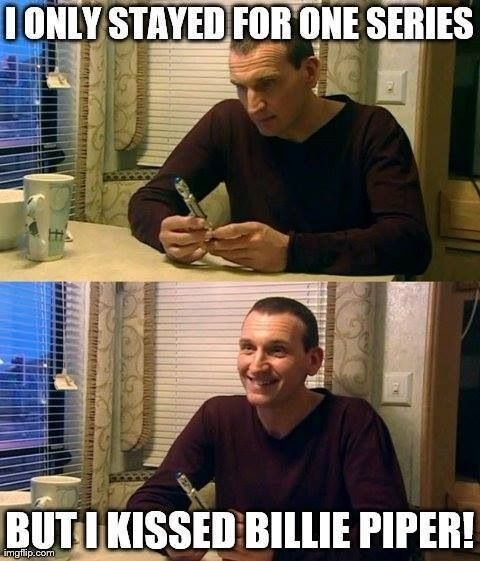 Score one for Nine! (Bet she didn't mind, either. The Ninth Doctor is welcome to extract Time Vortex energy from me any time he wants.)<< that comment