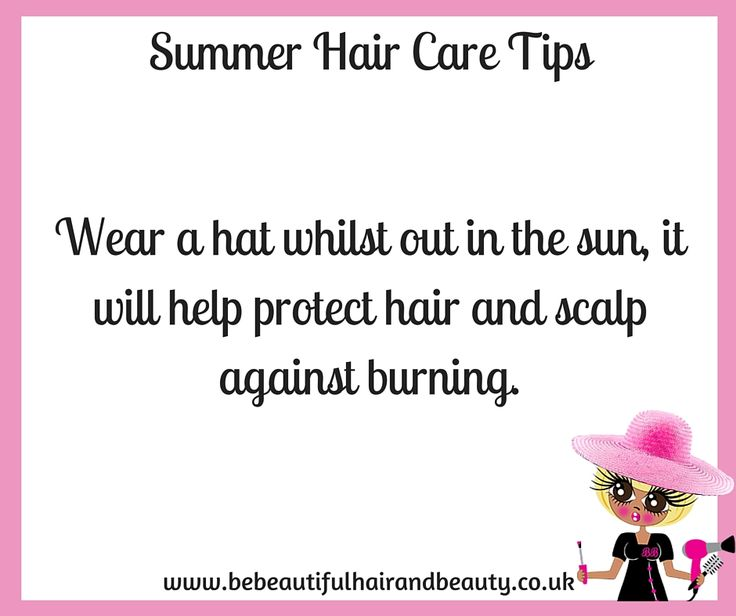 Summer Hair Care Tip #6