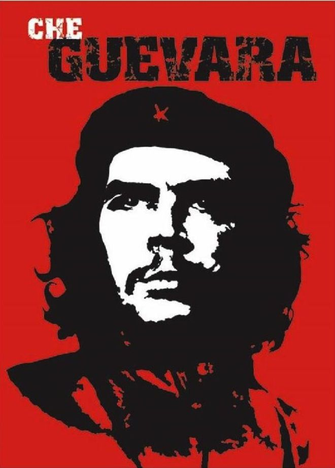 Iconic Che Guevara poster.