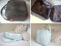 Una vieja maleta... ¡que luce como nueva!