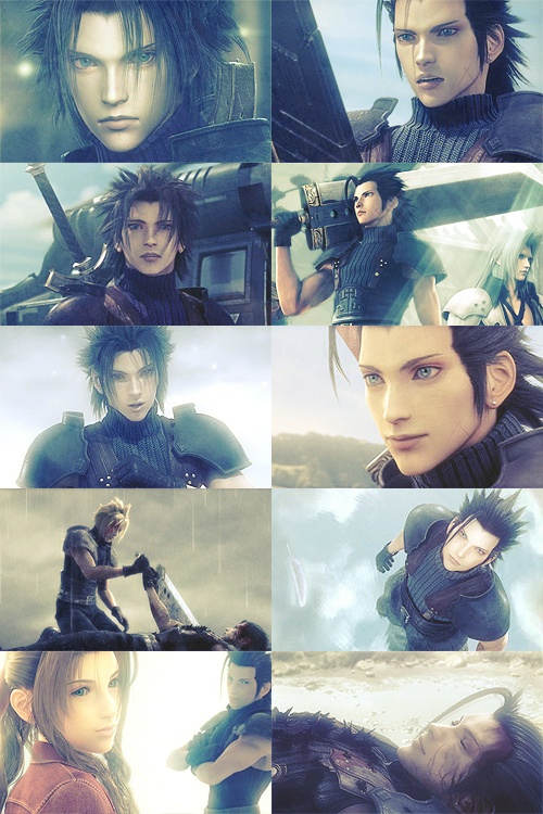 Zack Fair <3 T_T Why is it the happy characters that die? <-- Let's rephrase that: why is it that every single character we fall in love with have to either die, leave the franchise in some way, or suffer emotional/physical trauma?