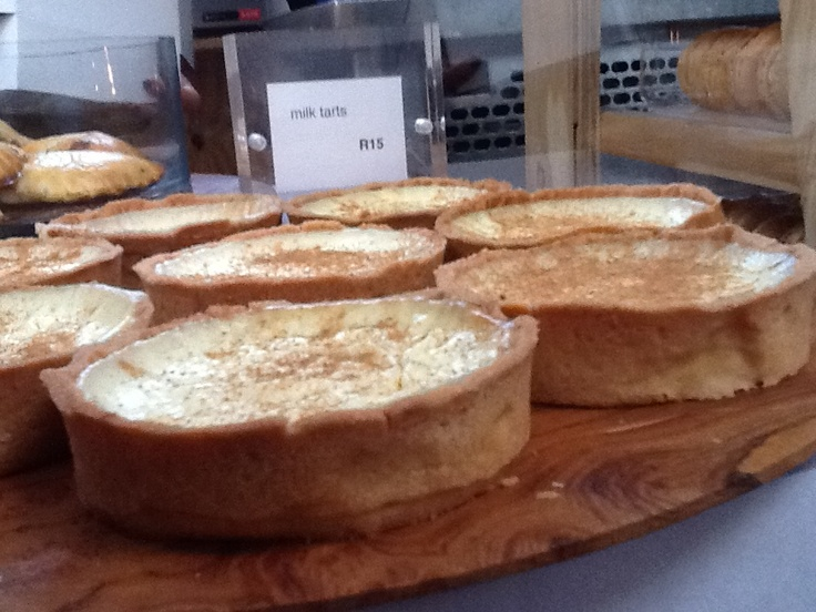 South Africa - milk tarts at the slow food market