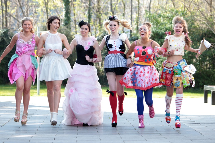 Secondary students from across the country are pictured at Griffith College for 'Reinvent Fashion 2012'. The annual schools competition has become synonymous with sustainable fashion and is a celebration of eco-friendly design and innovation. Each year Reinvent Fashion challenges transition, fifth, sixth year and FETAC students from around Ireland to construct a ladies outfit from second hand garments and raw materials.