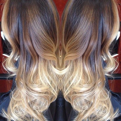 brown and blonde balayage ombre