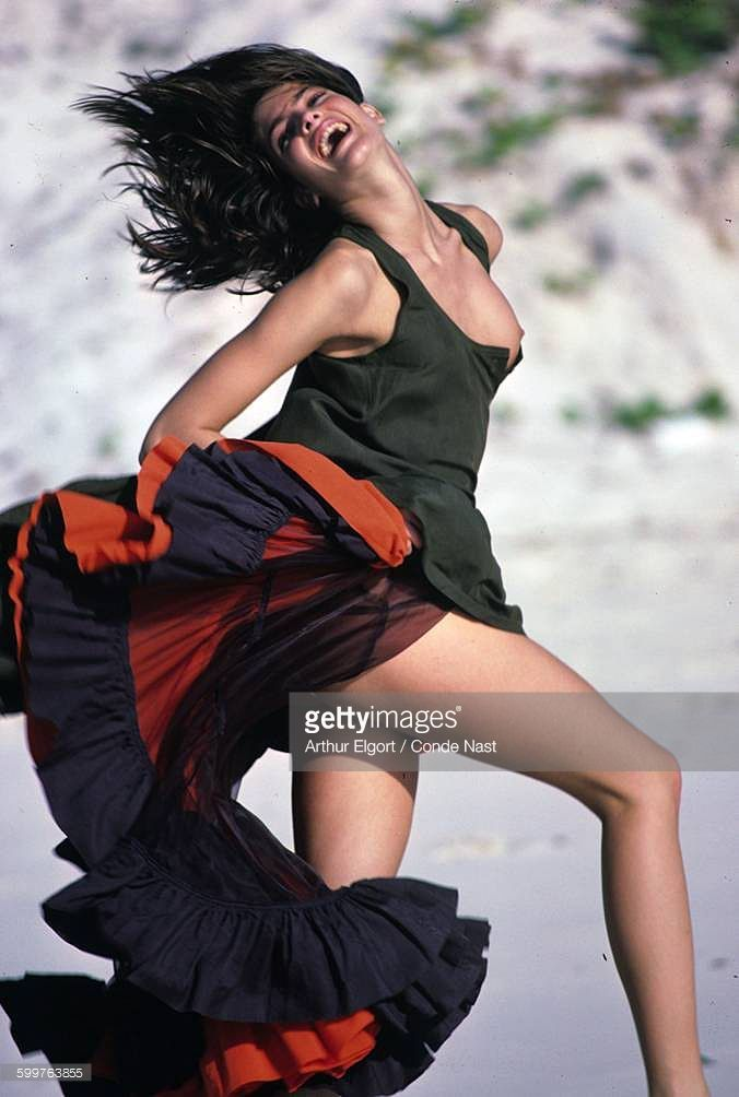 News Photo : Model Stephanie Seymour wearing Byblos' 'sauvage'...