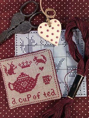 a cup of tea cross stitch | REPINNED
