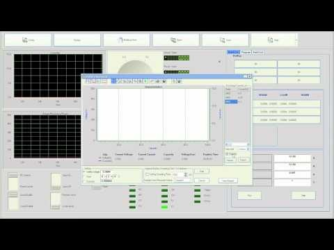 Battery Test Function of the PV8500 DC Electronic Load Operating Software