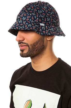 Crooks and Castles Hat The Elite Paisley Bucket in Navy