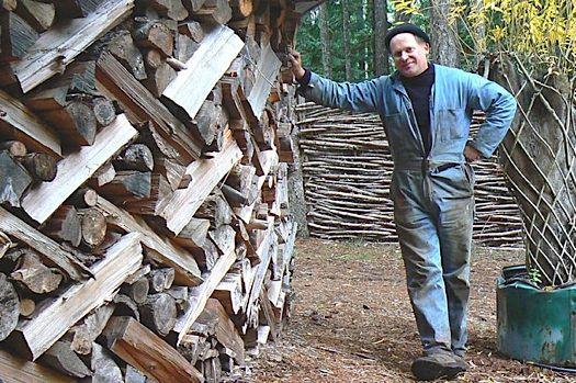 woodpile as art - Improvised Life