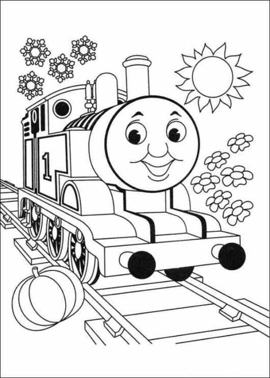 train color pages free printable # 4