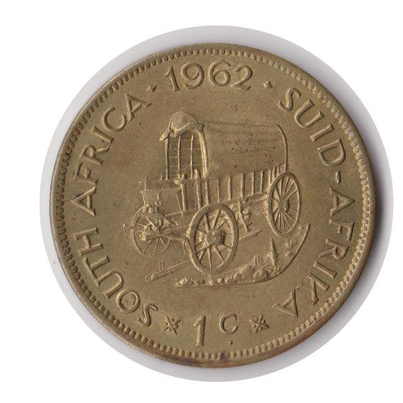South Africa One Cent 1962 Coin Code:JMC1872 by COINSnCARDS