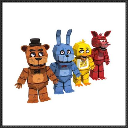 Five Nights at Freddy's Papercrafts Free Download - http://www.papercraftsquare.com/five-nights-freddys-papercrafts-free-download.html